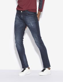 ARMANI EXCHANGE J14 SKINNY-FIT INDIGO PAINTED JEAN Skinny jeans [*** pickupInStoreShippingNotGuaranteed_info ***] f