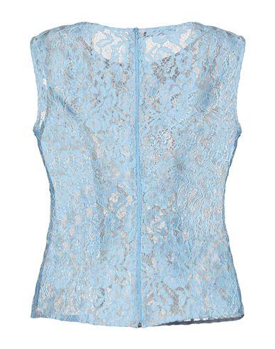 Купить Топ без рукавов от GIADA CURTI RESORT небесно-голубого цвета