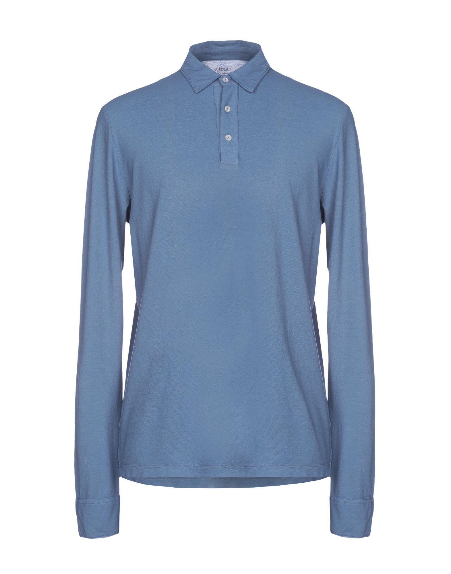 《送料無料》ALTEA メンズ ポロシャツ ブルーグレー M コットン 100%