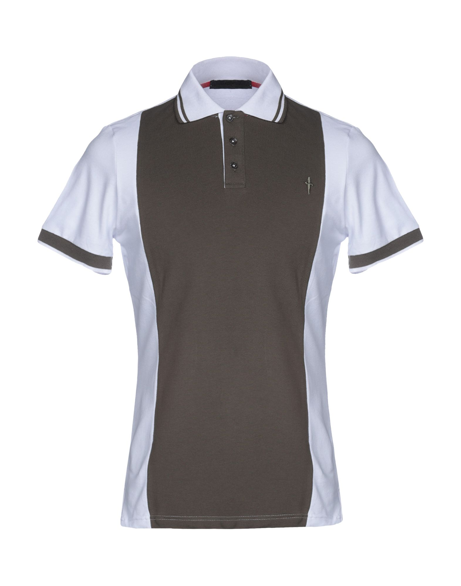 CESARE PACIOTTI 4US Polo Shirts in Military Green