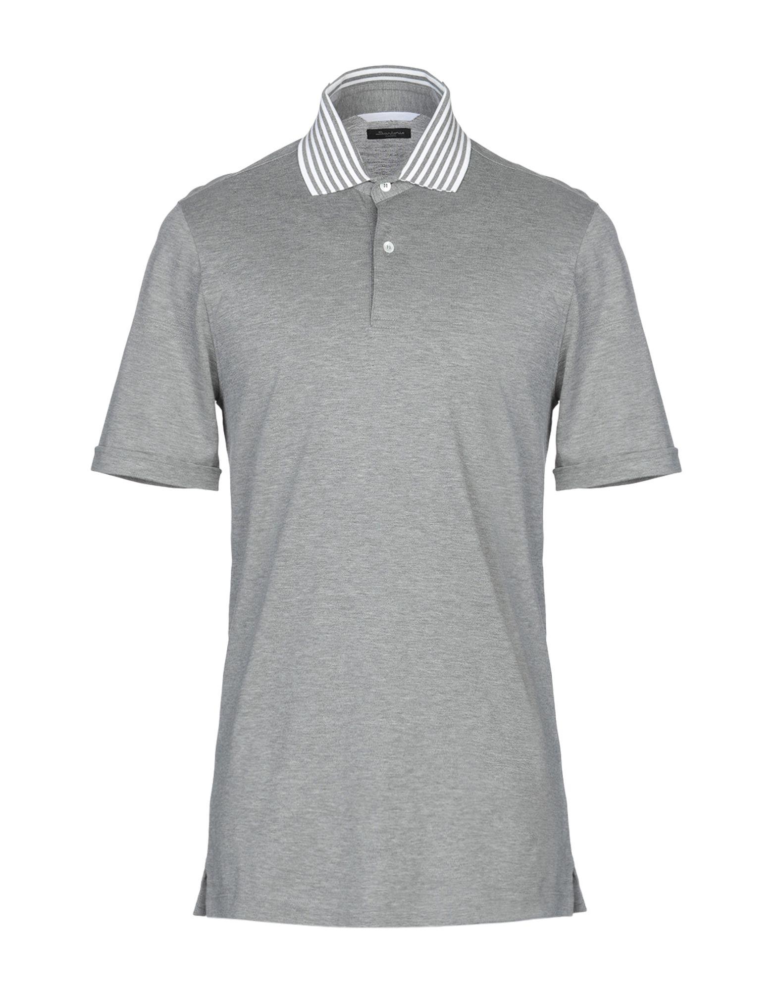 《送料無料》SARTORIO メンズ ポロシャツ ライトグレー 50 コットン 100%