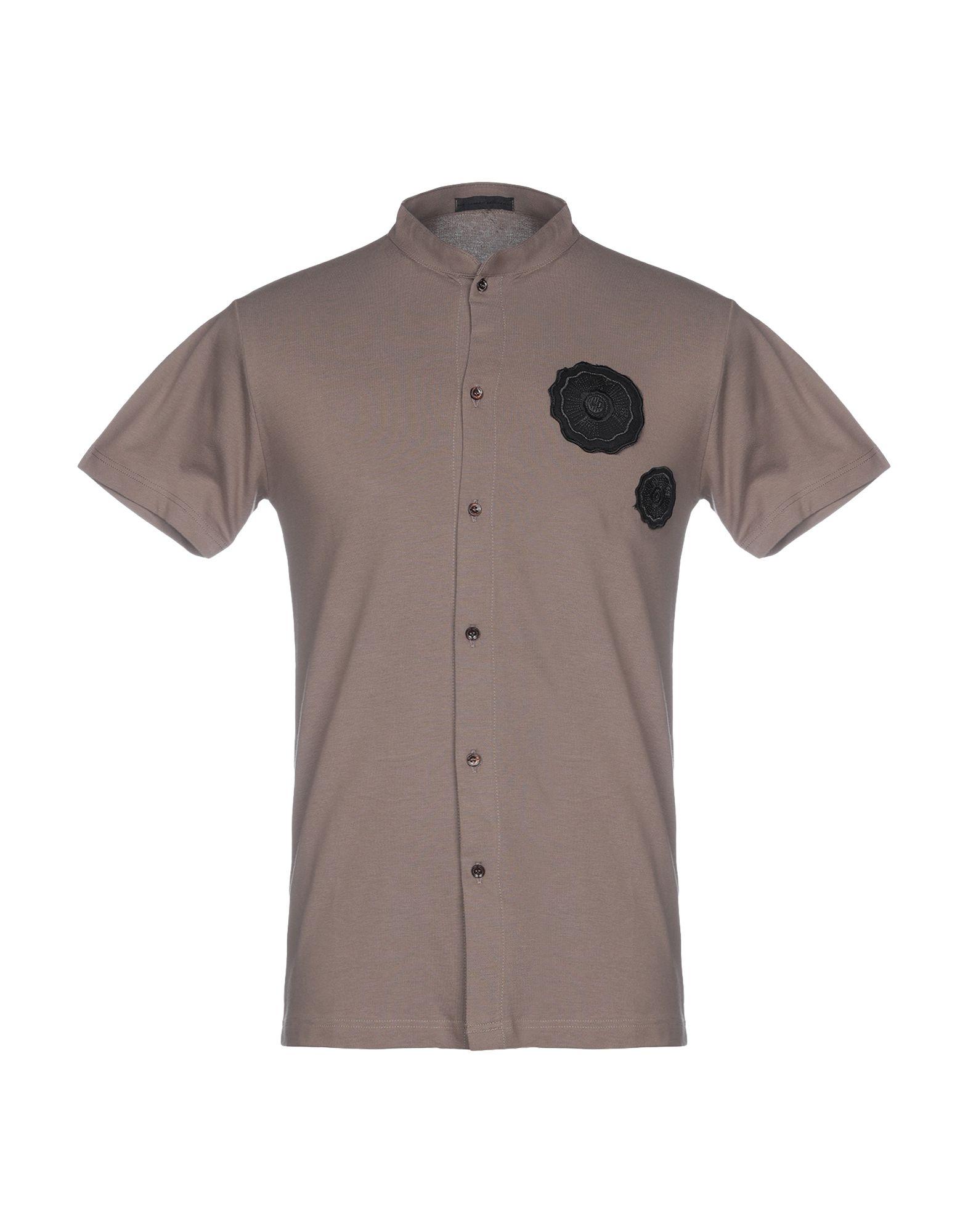 《送料無料》ALESSANDRO DELL'ACQUA メンズ シャツ ドーブグレー S コットン 100%