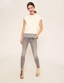 ARMANI EXCHANGE SUPER-SKINNY CROPPED GREY ZIPPER JEAN Skinny jeans [*** pickupInStoreShipping_info ***] d