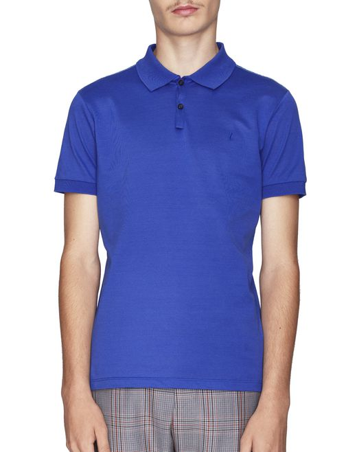 LIGHT BLUE EMBROIDERED POLO - Lanvin