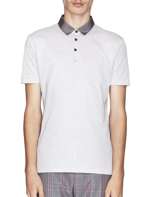 WHITE SLIM-FIT PIQUÉ POLO - Lanvin