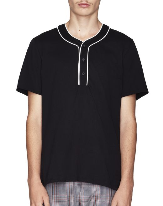 BLACK BASEBALL POLO - Lanvin