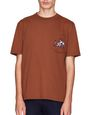 "LANVIN Polos & T-Shirts Man ""L"" EMBROIDERED CAMEL-COLOURED T-SHIRT f"