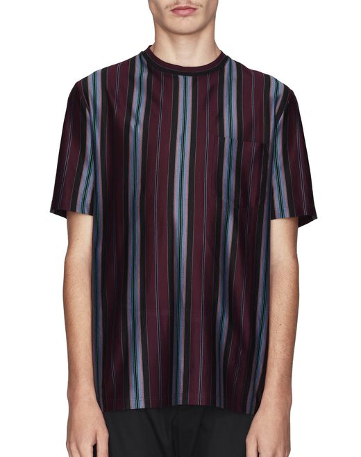 T-SHIRT BORDEAUX IN JERSEY  - Lanvin