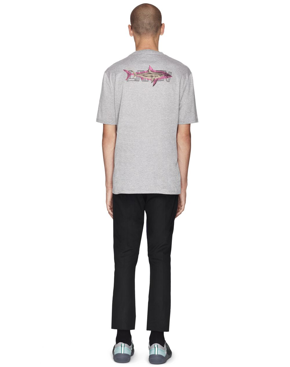 "GRAY ""DOUBLE SHARK"" T-SHIRT - Lanvin"