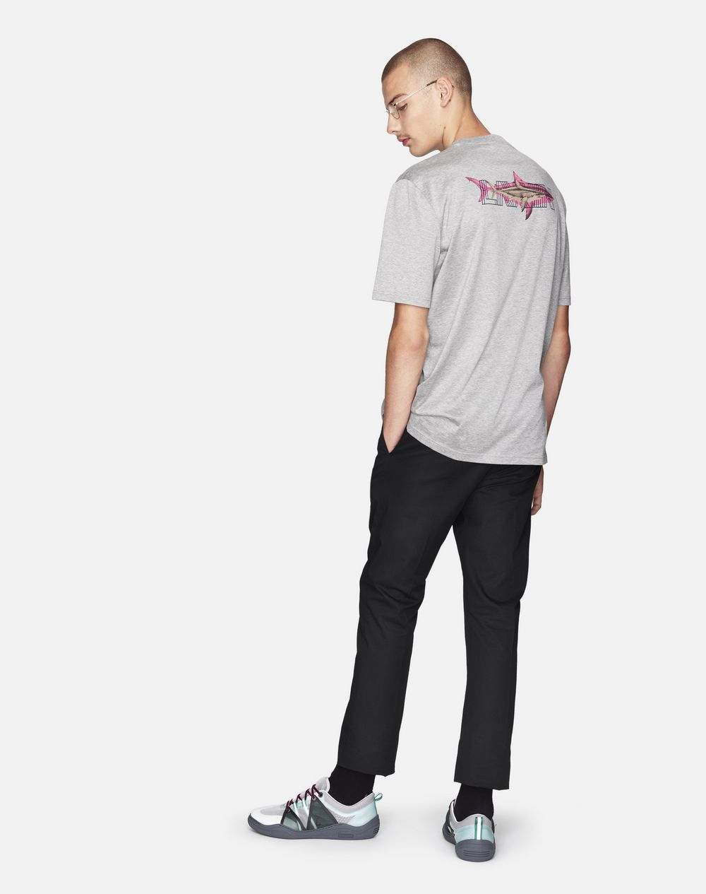 "GREY ""DOUBLE SHARK"" T-SHIRT - Lanvin"