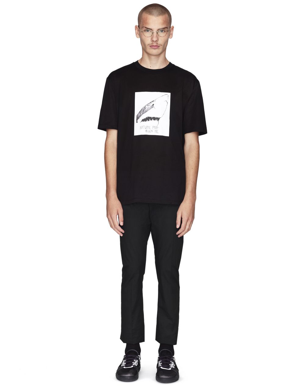 BLACK PRINT T-SHIRT  - Lanvin