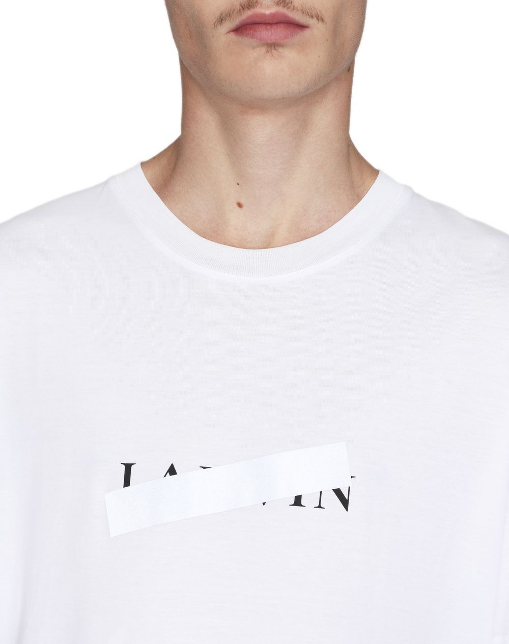 "WHITE ""LANVIN BAR"" T-SHIRT - Lanvin"