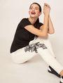 ARMANI EXCHANGE J10 SKINNY CROPPED FLORAL JEAN Skinny jeans Woman a