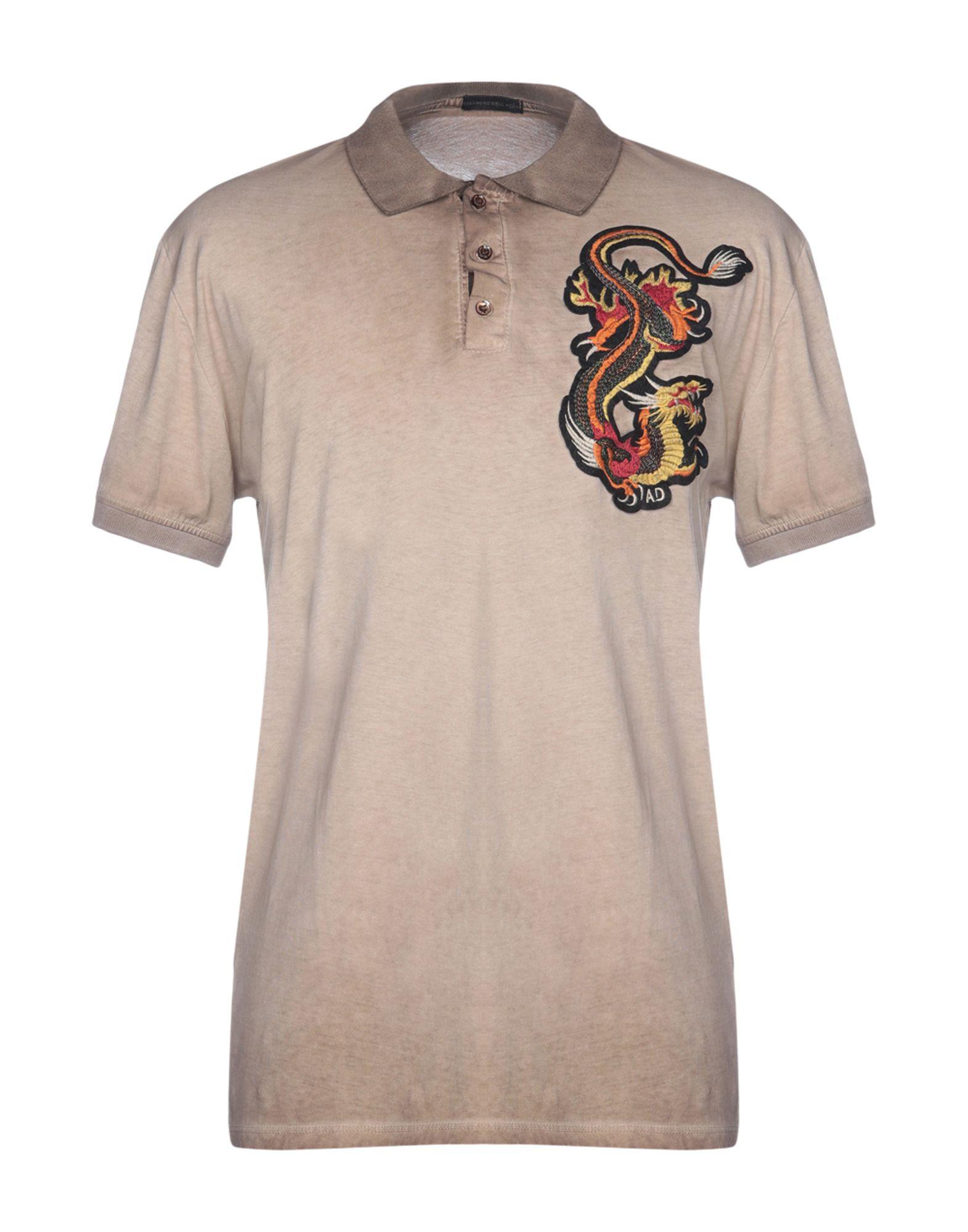 《送料無料》ALESSANDRO DELL'ACQUA メンズ ポロシャツ サンド S コットン 100%