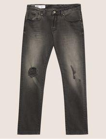 ARMANI EXCHANGE J13 SLIM-FIT GREY DESTROYED KNEE JEAN Slim fit JEANS [*** pickupInStoreShippingNotGuaranteed_info ***] r