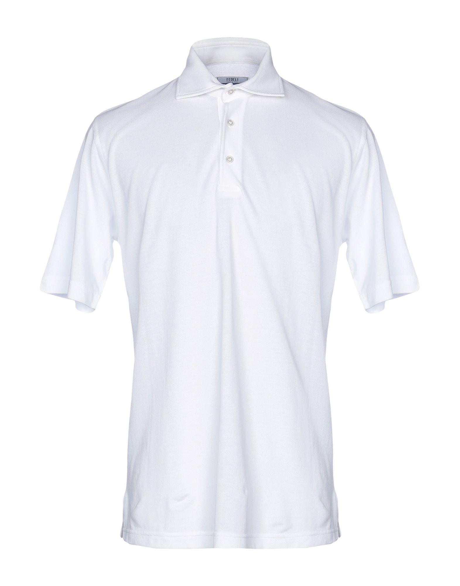 《送料無料》FEDELI メンズ ポロシャツ ホワイト 54 コットン 100%