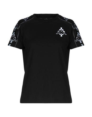 Фото - Женскую футболку MARCELO BURLON x KAPPA черного цвета