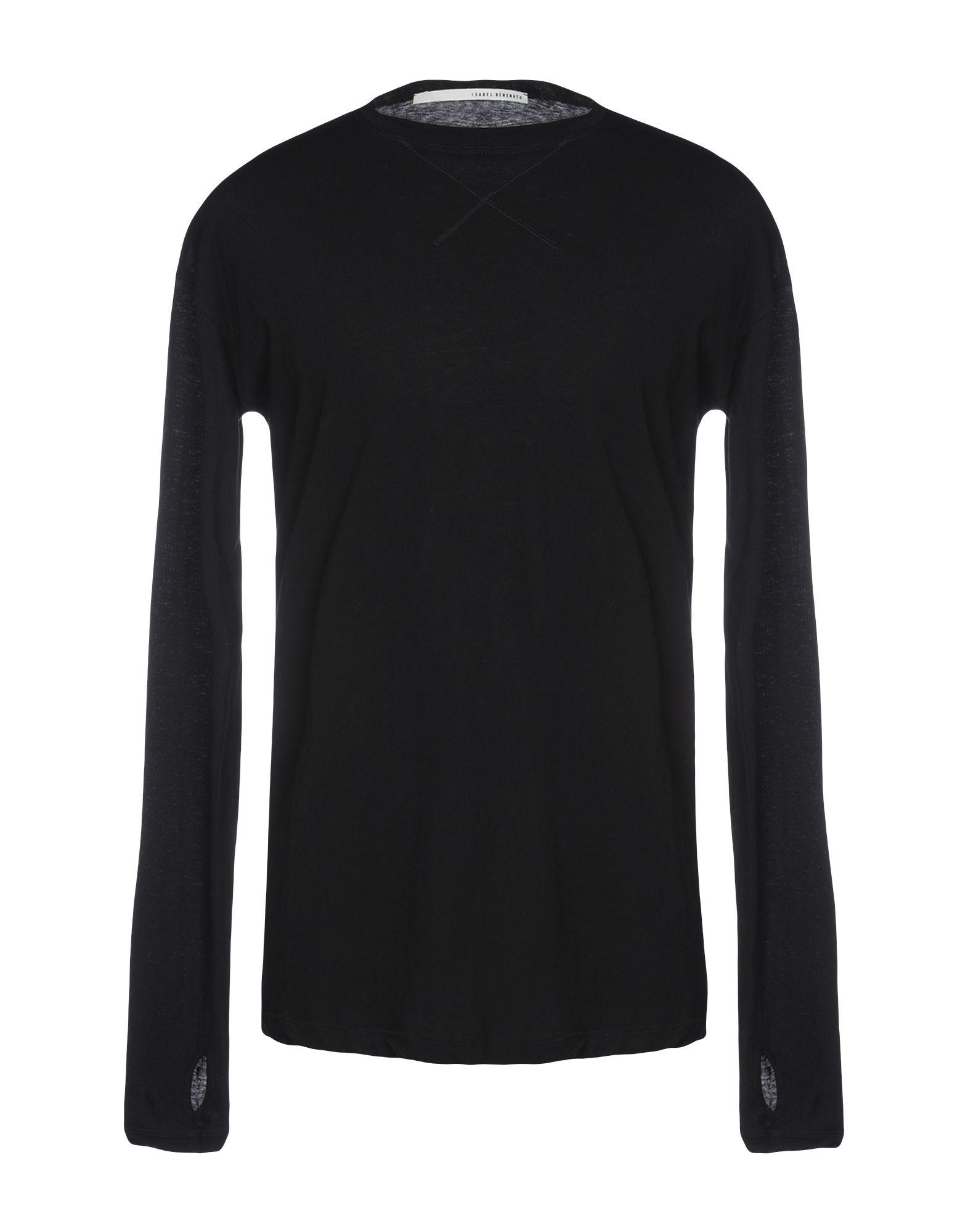 《送料無料》ISABEL BENENATO メンズ T シャツ ブラック S コットン 100%