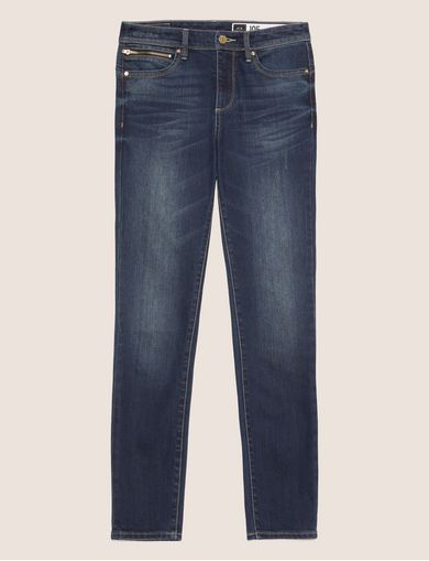 SUPER-SKINNY CROPPED INDIGO ZIPPER JEAN