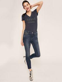 ARMANI EXCHANGE SUPER-SKINNY CROPPED INDIGO ZIPPER JEAN Skinny jeans [*** pickupInStoreShipping_info ***] a