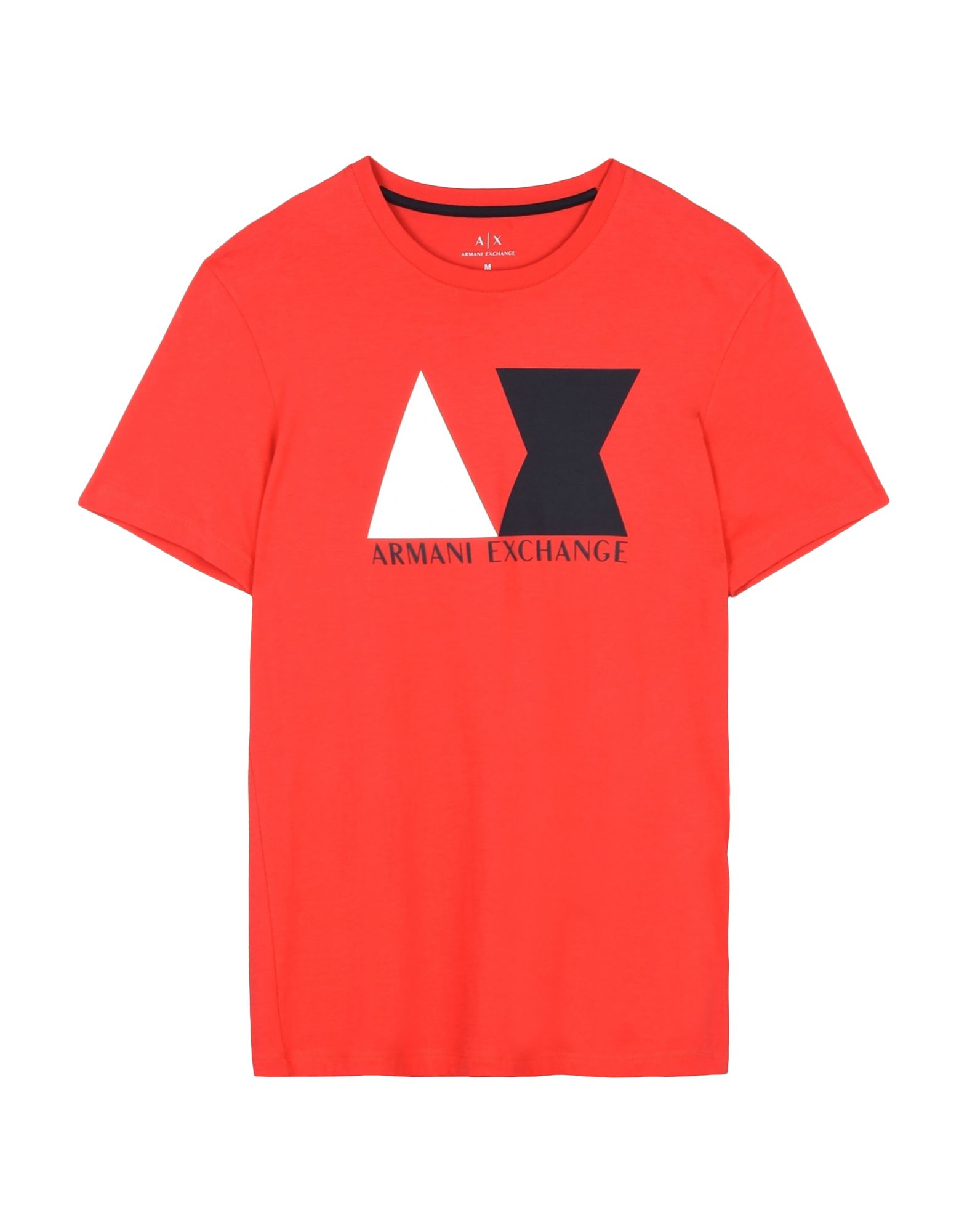 《送料無料》ARMANI EXCHANGE メンズ T シャツ レッド XS ピマコットン 100%