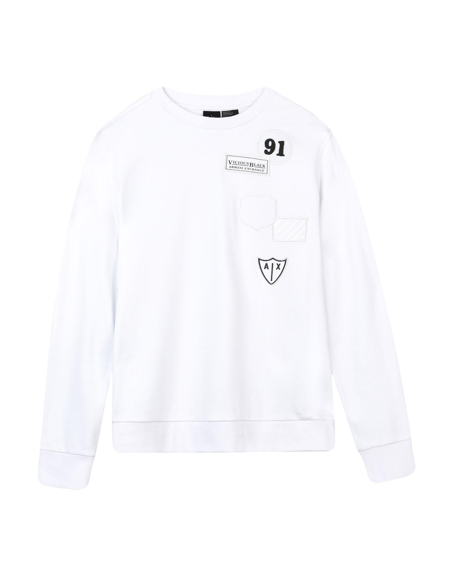 《送料無料》ARMANI EXCHANGE メンズ スウェットシャツ ホワイト S コットン 100%