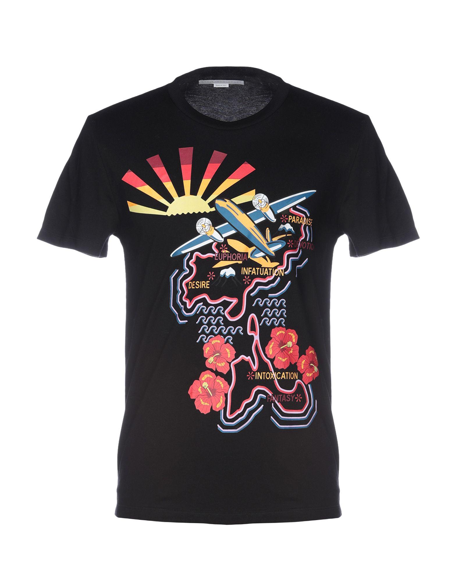 《セール開催中》STELLA McCARTNEY MEN メンズ T シャツ ブラック XS コットン 100%