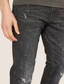 ARMANI EXCHANGE J13 SLIM-FIT BLACK DESTROYED JEAN SLIM FIT JEANS [*** pickupInStoreShippingNotGuaranteed_info ***] b