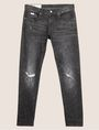 ARMANI EXCHANGE J13 SLIM-FIT BLACK DESTROYED JEAN SLIM FIT JEANS [*** pickupInStoreShippingNotGuaranteed_info ***] r