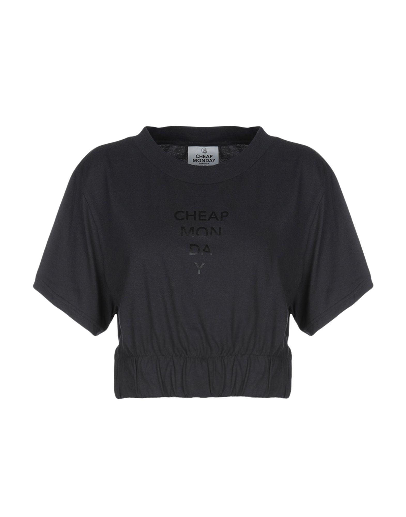 《送料無料》CHEAP MONDAY レディース T シャツ スチールグレー XS コットン 100%