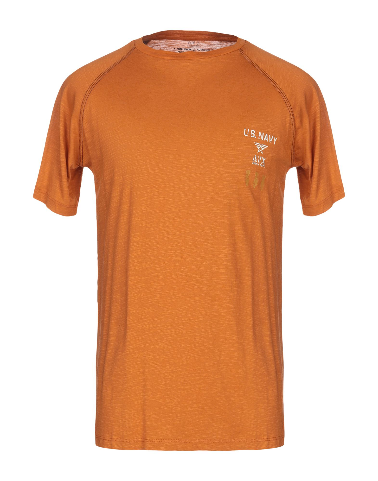 《送料無料》AVIREX メンズ T シャツ 赤茶色 S コットン 100%