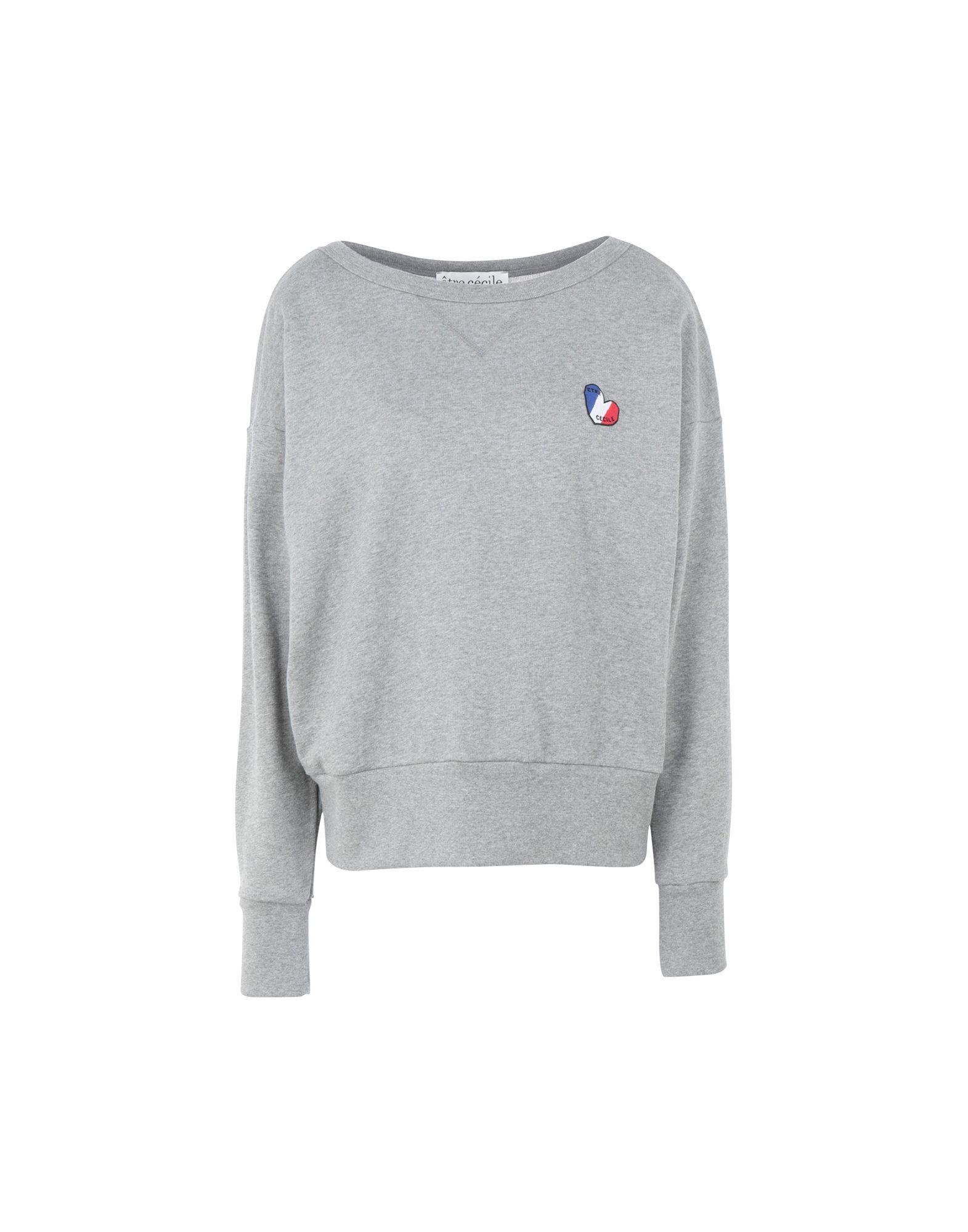 《セール開催中》?TRE C?CILE レディース スウェットシャツ ライトグレー M コットン 100% french heart vintage sweatshirt
