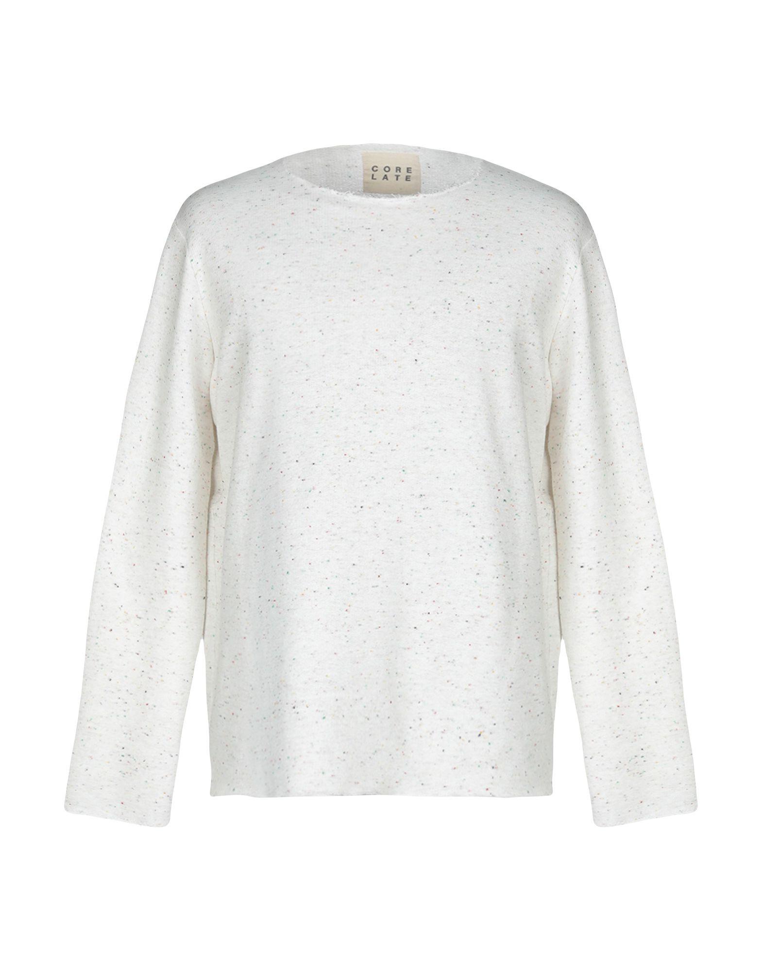 《送料無料》CORELATE メンズ スウェットシャツ ホワイト S コットン 100%