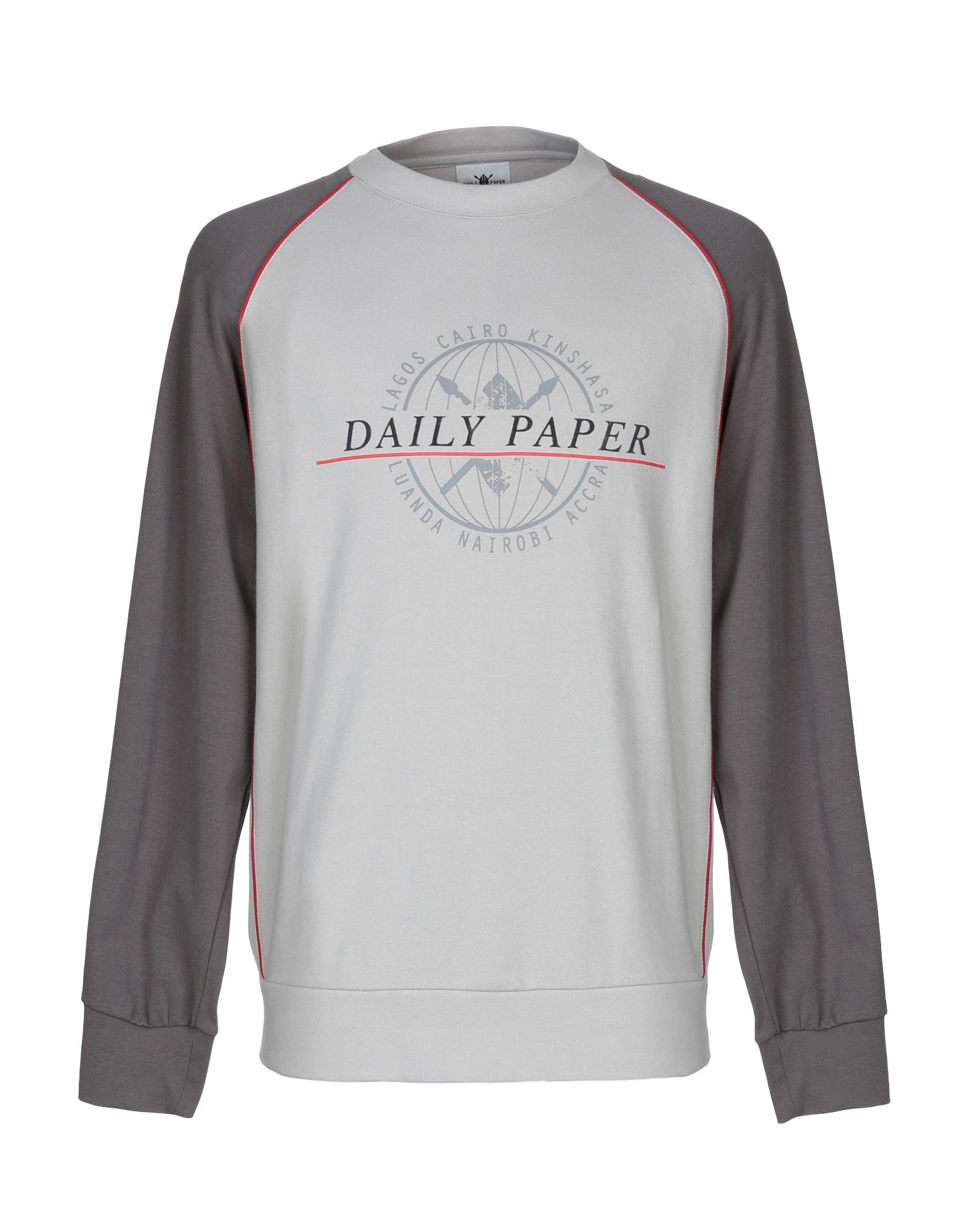 《送料無料》DAILY PAPER メンズ スウェットシャツ ライトグレー M コットン 95% / ポリウレタン 5%