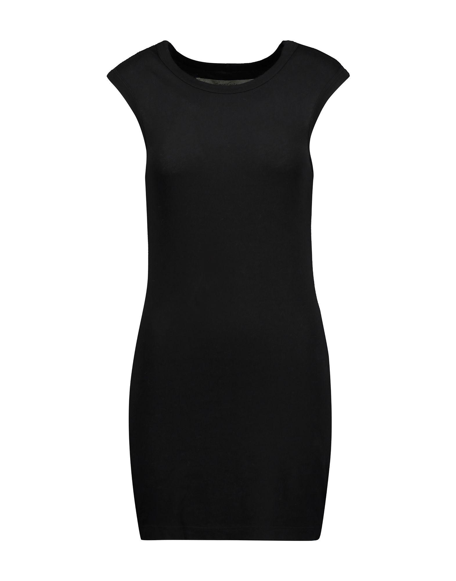 《送料無料》ENZA COSTA レディース ミニワンピース&ドレス ブラック XS コットン 100%