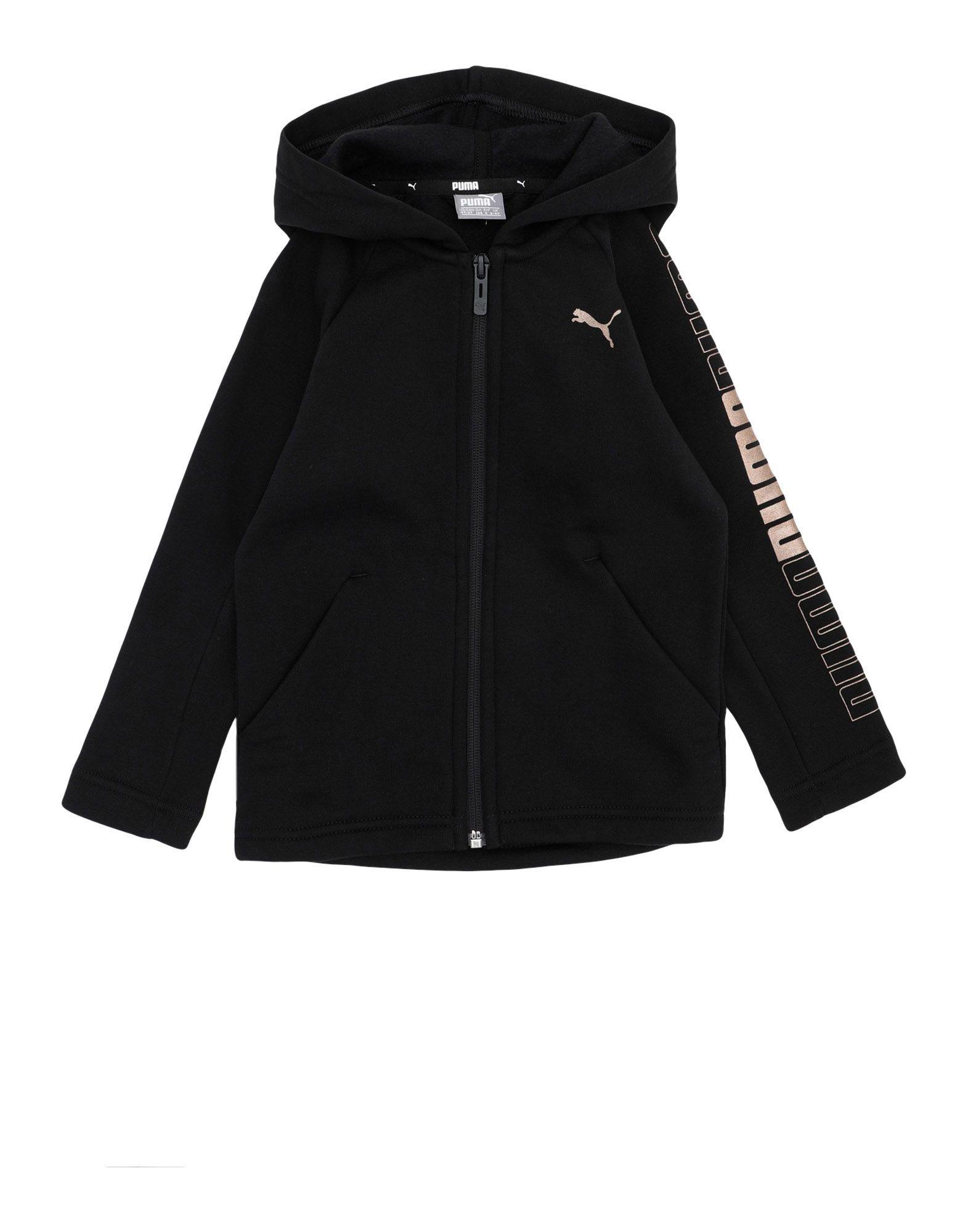 《セール開催中》PUMA ガールズ 3-8 歳 スウェットシャツ ブラック 4 コットン 68% / ポリエステル 32% Modern Style FZ Sweat