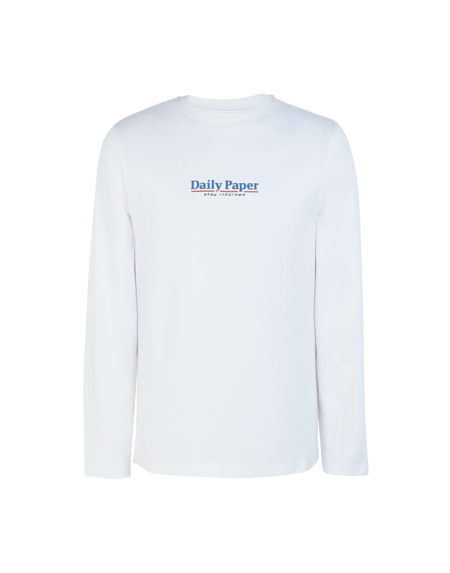 《送料無料》DAILY PAPER メンズ T シャツ ホワイト S コットン 100% DISA
