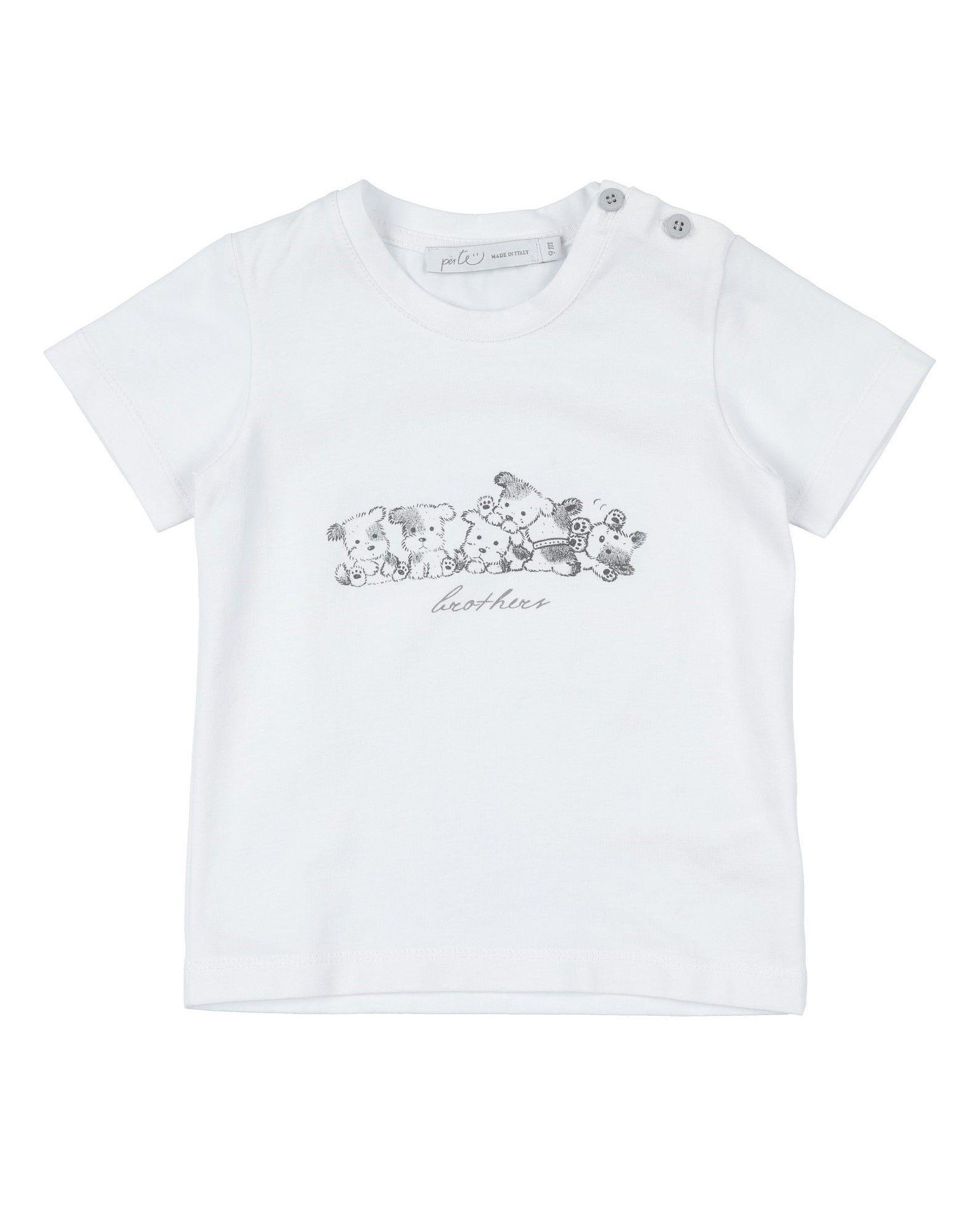 "Per Te"" Kids' T-shirts In White"