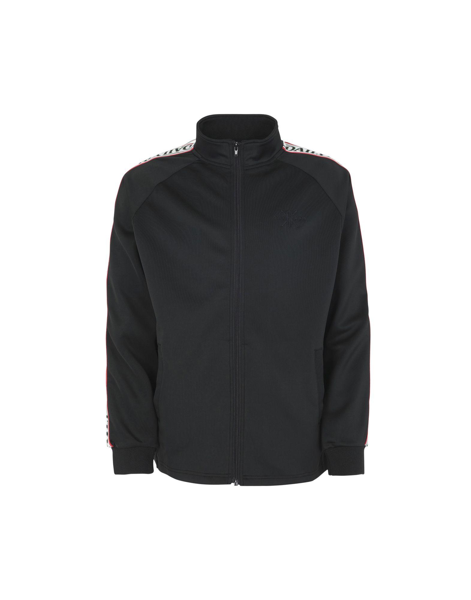 《送料無料》DAILY PAPER メンズ スウェットシャツ ブラック L ポリエステル 95% / ポリウレタン 5% DAPEVEST