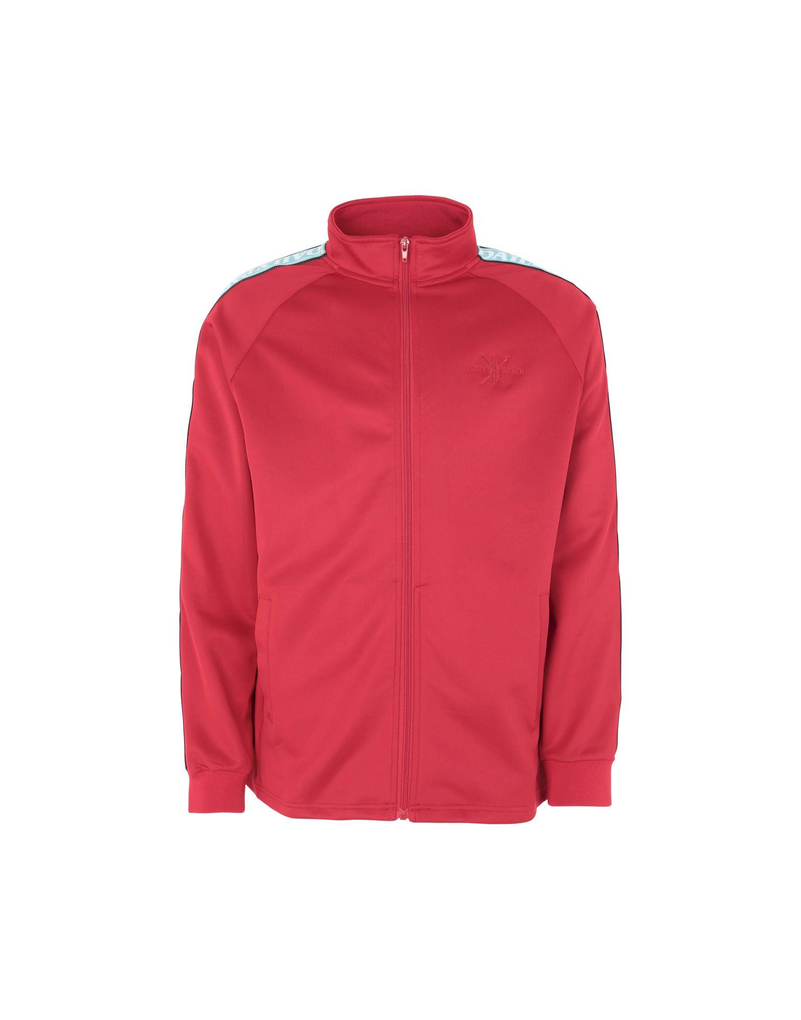 《送料無料》DAILY PAPER メンズ スウェットシャツ レッド S ポリエステル 95% / ポリウレタン 5% DAPEVEST