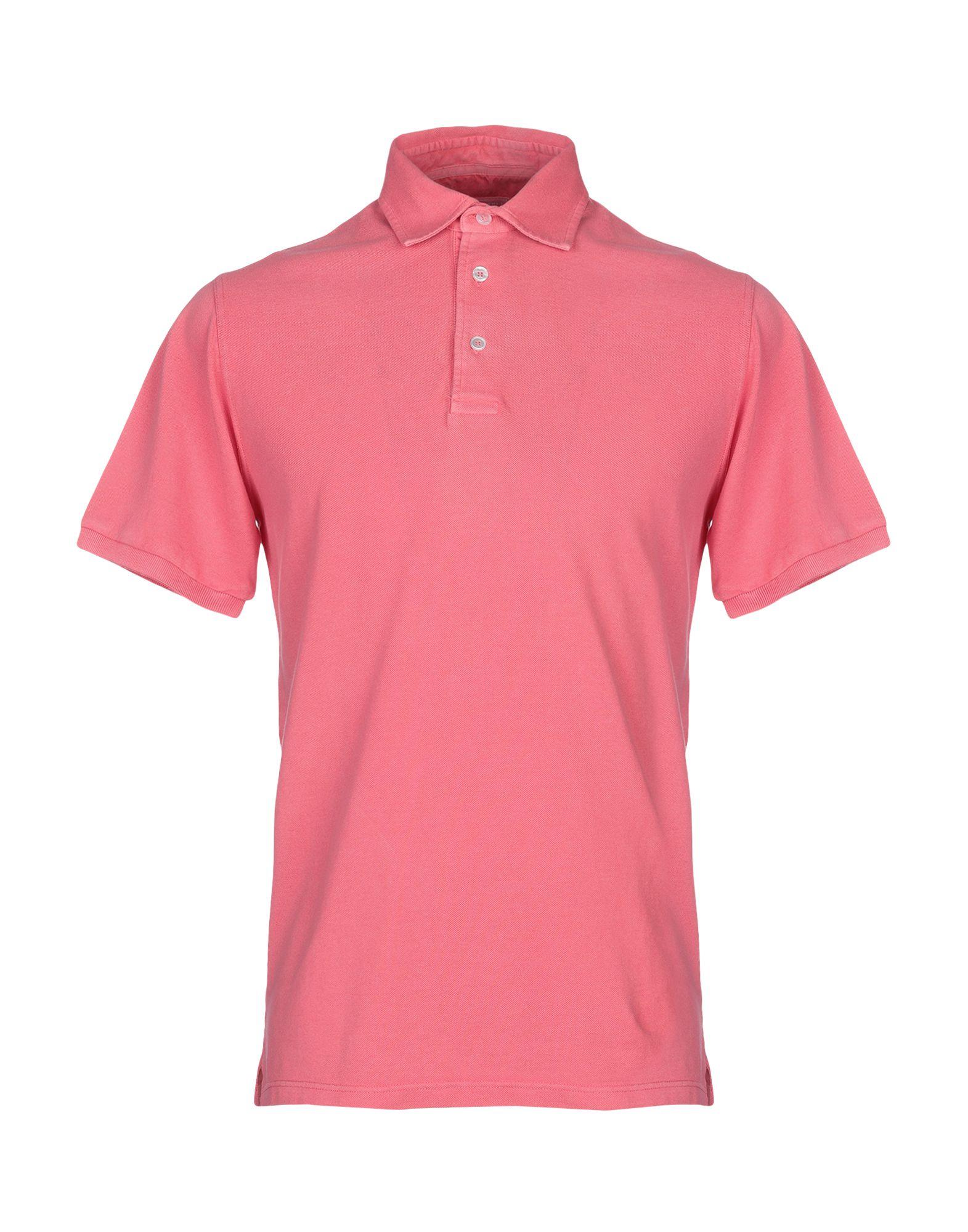 《送料無料》FEDELI メンズ ポロシャツ ピンク 48 コットン 100%
