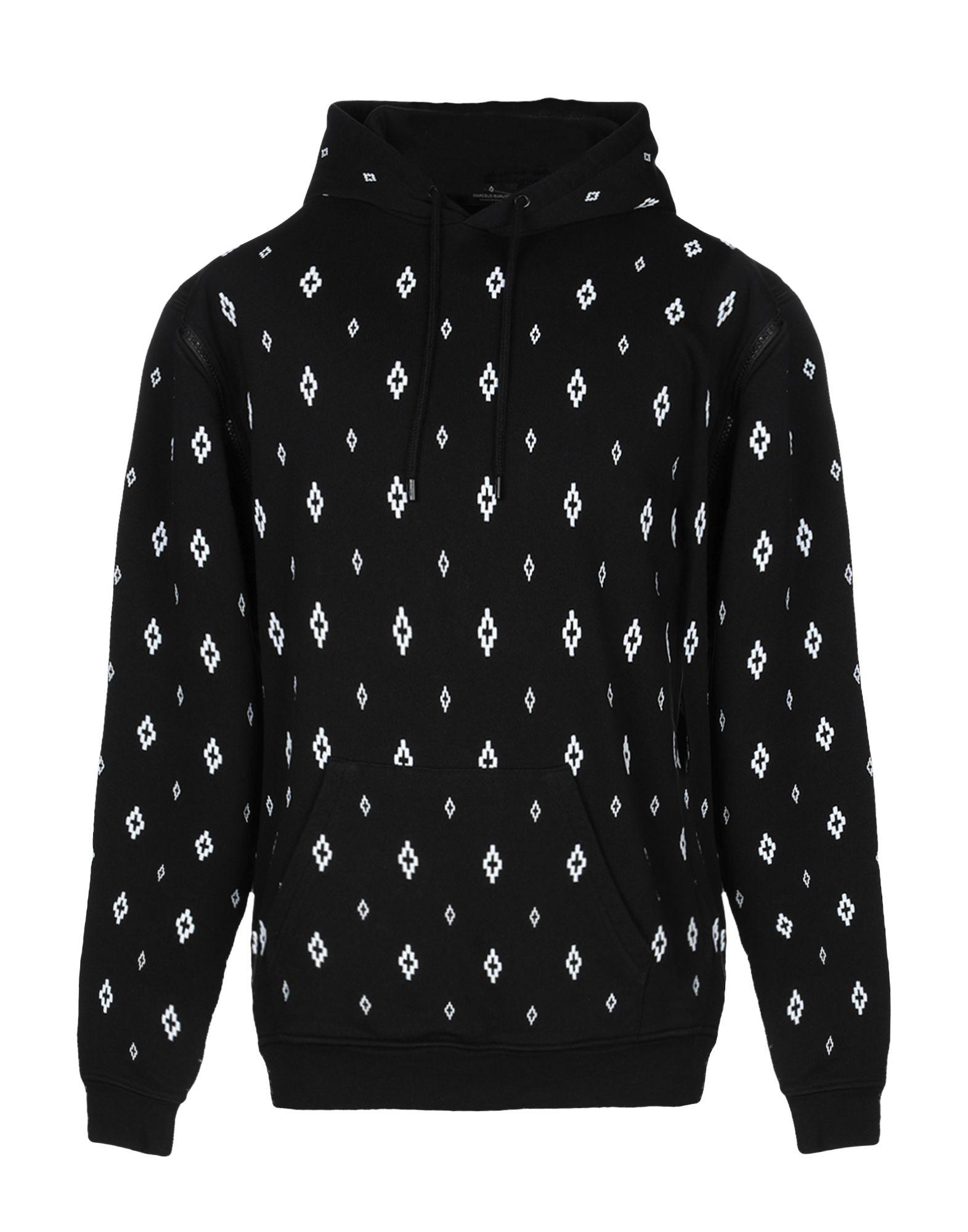 《送料無料》MARCELO BURLON メンズ スウェットシャツ ブラック XXS コットン 100% / ポリウレタン / ポリエステル