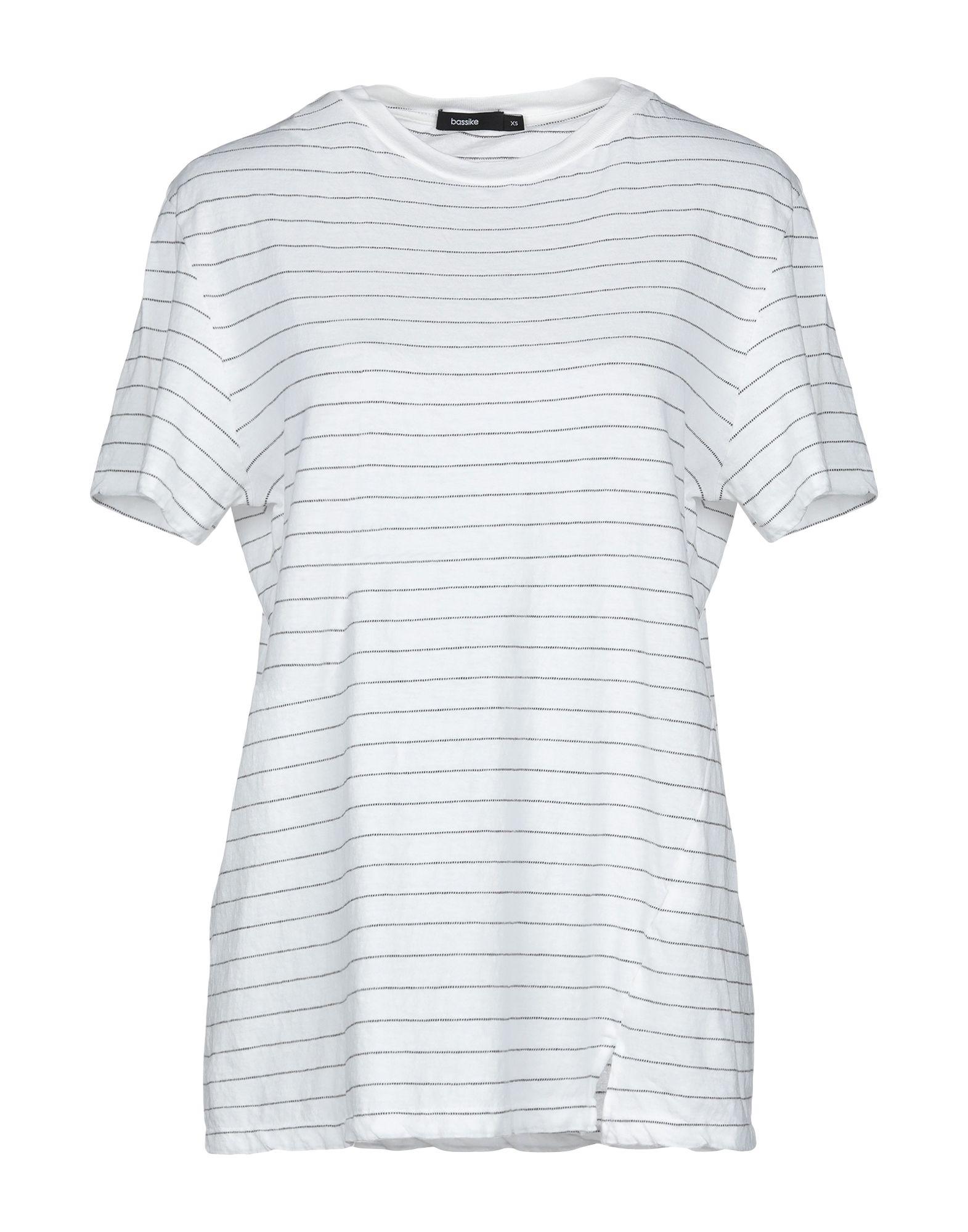 《送料無料》BASSIKE レディース T シャツ ホワイト XS オーガニックコットン 100%