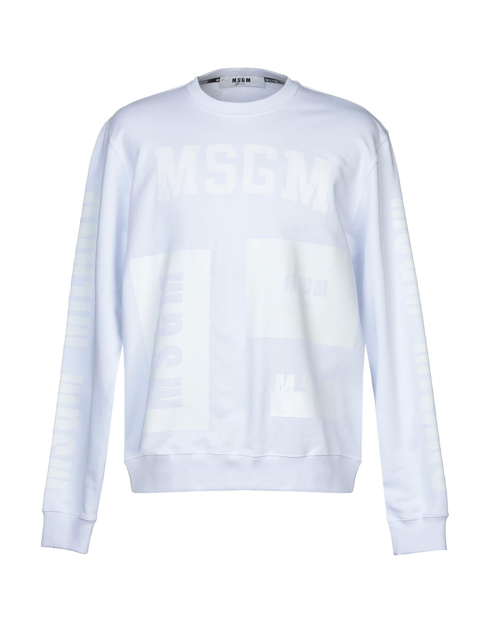 《セール開催中》MSGM メンズ スウェットシャツ ホワイト XS コットン 100%