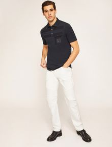 ARMANI EXCHANGE MOTO-FIT WHITE JEAN WITH DISTRESSING Skinny jeans [*** pickupInStoreShippingNotGuaranteed_info ***] d
