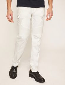 ARMANI EXCHANGE MOTO-FIT WHITE JEAN WITH DISTRESSING Skinny jeans [*** pickupInStoreShippingNotGuaranteed_info ***] f