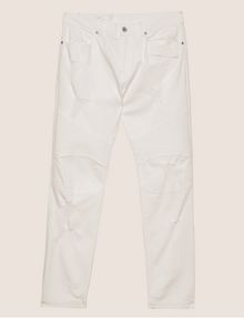 ARMANI EXCHANGE MOTO-FIT WHITE JEAN WITH DISTRESSING Skinny jeans [*** pickupInStoreShippingNotGuaranteed_info ***] r
