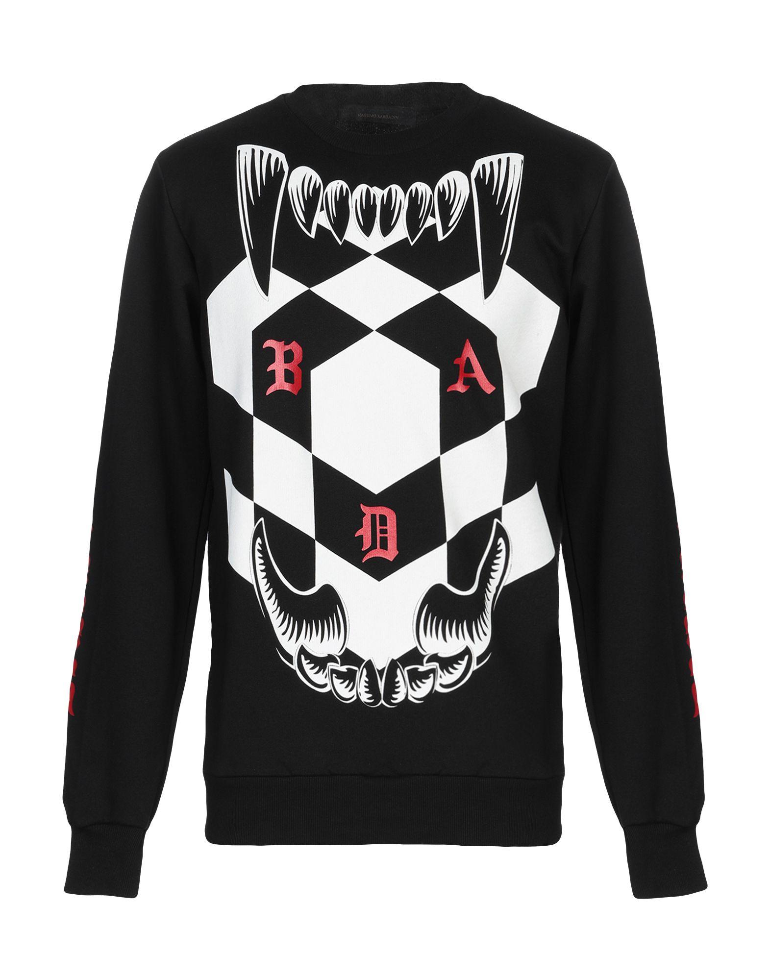 《セール開催中》BAD SPIRIT メンズ スウェットシャツ ブラック L コットン 100%
