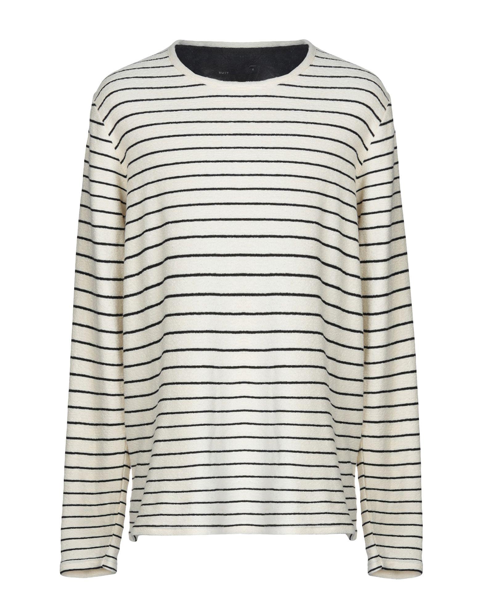 《送料無料》SUIT メンズ スウェットシャツ アイボリー XL コットン 100%