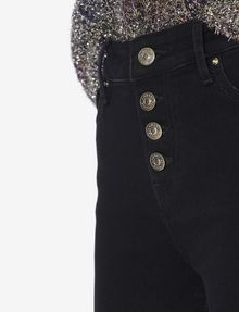 ARMANI EXCHANGE J27 SUPER-SKINNY RIPPED BLACK BUTTON-FLY JEAN Skinny jeans [*** pickupInStoreShipping_info ***] b